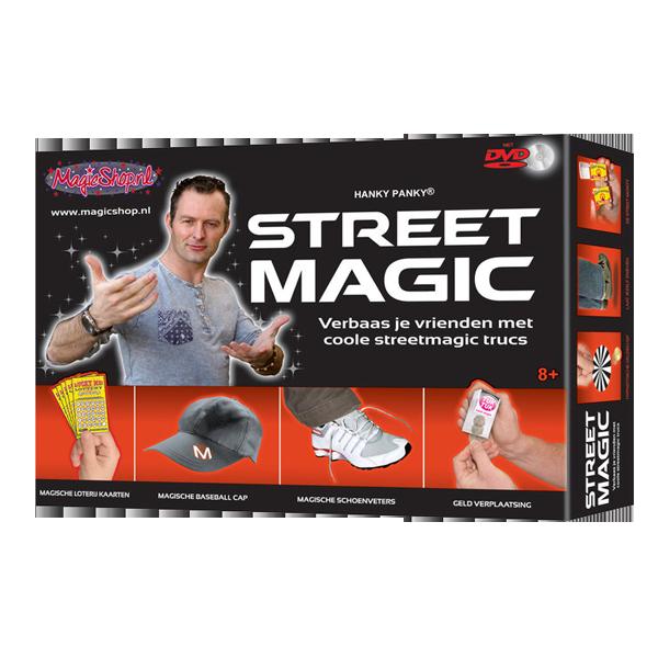 supergave goocheldoos met streetmagic goocheltrucs